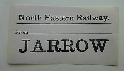 North Eastern Railway (Ner) Luggage Label From .............. To Jarrow