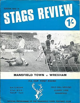 Mansfield Town  F.c.1970 Programme.