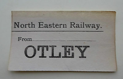 North Eastern Railway (Ner) Luggage Label From ........... To Otley