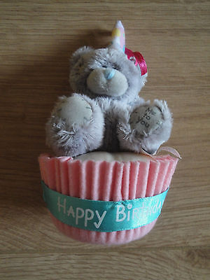 Me To You 3'' Happy Birthday Cake, Cute Bear in Party Hat. Unwanted Gift