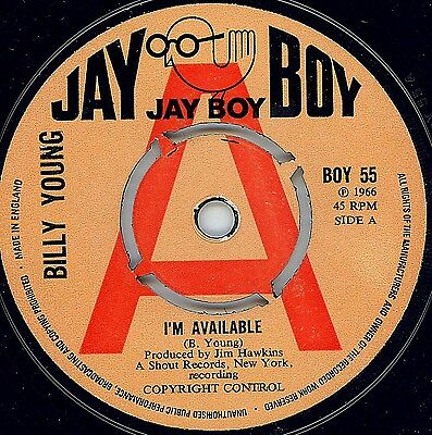 Northern Soul - Billy Young - I'm Available - Uk Jay Boy (Demo)