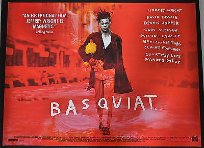 BASQUIAT (Julian Schnabel 1996) Original UK quad poster.