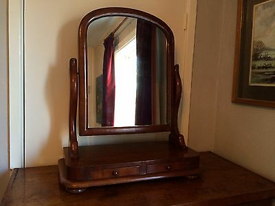 Antique Mahogany Swing Dressing Table Mirror.