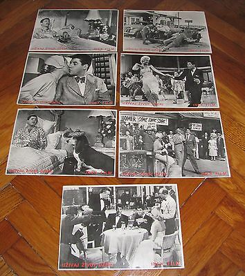 Jerry Lewis LIVING IT UP Dean Martin Janet Leigh 7x Yugoslavian LC VERY RARE