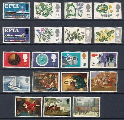 1967 Complete Commemorative Year Set ( 6 Sets ) Unmounted Mint