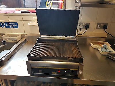 BUFFALO Contact Grill Double Panini Grill Ribbed