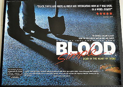 BLOOD SIMPLE (Coen Brothers 1984.) Original UK quad poster.