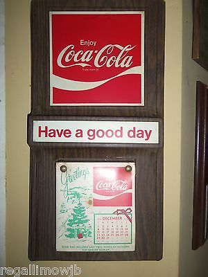 COCA-COLA wall calender  1974 from lincolnton .NC.plant new old stock unused
