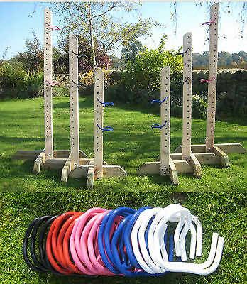 3 Pairs Training Wings complete with Jump Cups 3,4&5ft (Wings to paint at home)