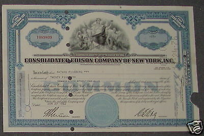Consolidated Edison Company of New York, Inc. 1962 25 Shares