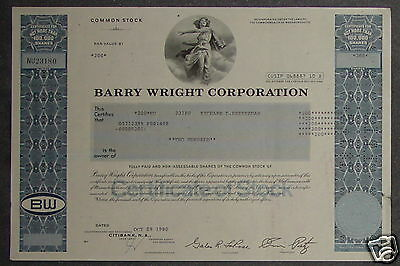 Barry Wright Corporation 1980 200 Shares