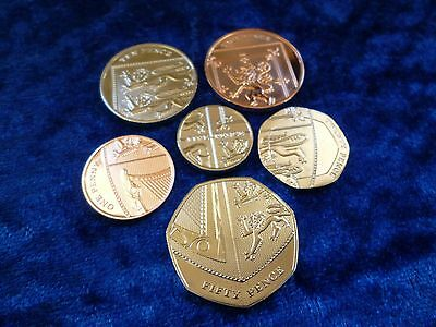 The Definitive Coins Of 2017 1p - 50p 6 Coin Lot BU NEW Royal Mint