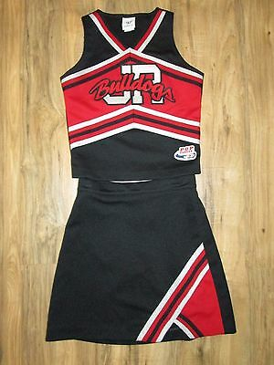 Real Bulldogs Cheerleader Uniform Outfit Costume Cheer Youth Teen Sized 32/25