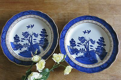 Real Old Willow Pair of Lunch Plates Booths Royal Doulton Majestic - several