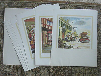 GUINNESS commissioned THELWELL Original Pub Cartoons - set 12 - 1974