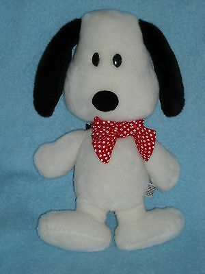 "16"" FLAT SNOOPY dog RED BOW PEANUTS GANG STUFFED ANIMAL PLUSH TOY"
