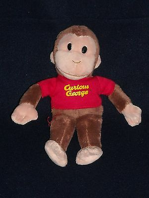"8"" CURIOUS GEORGE MONKEY hand washable UNIVERSAL STUDIOS GUND STUFFED PLUSH"