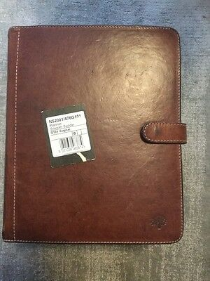 Mulberry Smooth Saddle Cognac Planner Diary with inserts