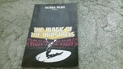 The Magic of the Minstrels Show Victoria Palace Theatre London 1970