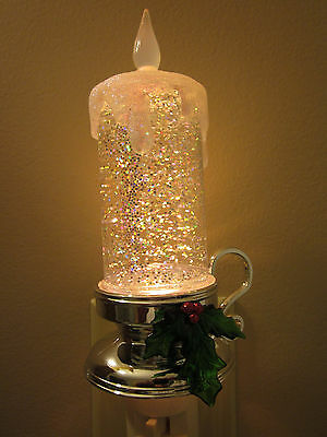 Midwest CBK Lights in the Night-Christmas Candle-liquid glitter night light