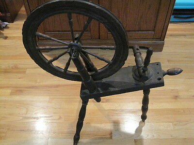 Antique Primitive Spinning Wheel - Sleeping Beauty Prop - Local Pick Up - NW NJ