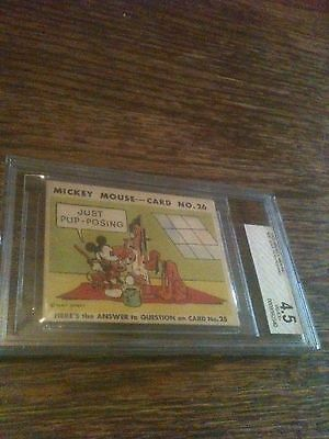 1935 Mickey Mouse Gum #26 BVG BGS 4.5 VG-EX+ TOP POP 1/1 Highest Graded RARE WOW