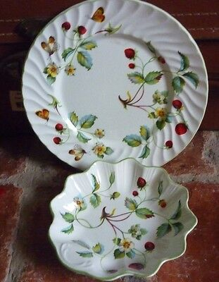 James Kent Old Foley 'Strawberry' Plate & Dish