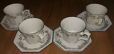 Eternal Beau Cups & Saucers x 4