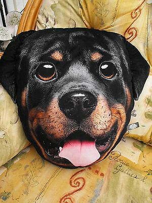 Rottweiler Gift Present Large Cushion And Cover Black Rottweiller Cushion Gift