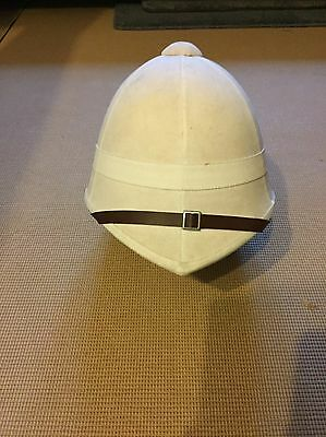 Pith Helmet Replica British Steampunk Hat White
