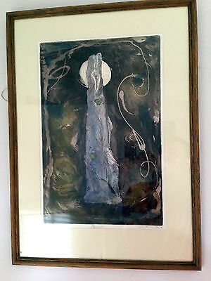 Cicely Osmond Smith Monolith Rare No:1 Limited Edition 1960's Framed Glazed MCM