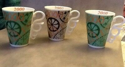 3 X Johnson Brothers Millenium Mugs , 2000