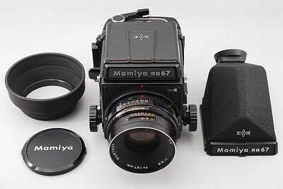 【EXC+++++】Mamiya RB67 PRO S  W/ NB 127mm 3.8 + Prism Finder Film From Japan #364