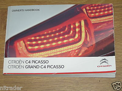 Citroen C4 Picasso / Grand Picasso Owners Manual Handbook  2013 - 2017