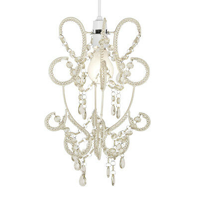 Ornate Ivory Cream Ceiling Light Fitting Pendant Lamp Shade Chandelier Lampshade