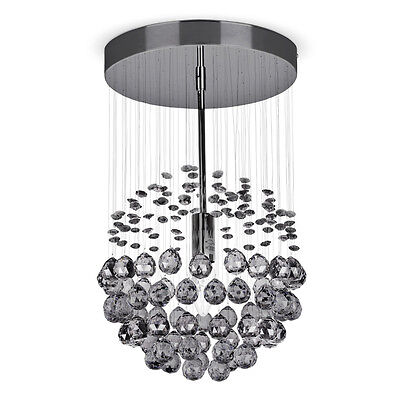 Modern Black Chrome / Acrylic Crystal Ceiling Light Fitting Chandeliers Lights