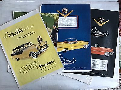 16 Full Page Magazine Advertisements For Automobiles From 1950s