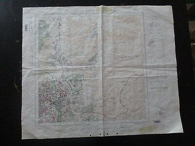 Jerusalem Divided By Green Line, Topographical Map. 1:20000 Scale,1966.  Vbok152