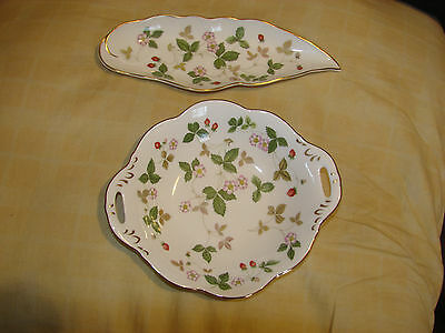 Wedgwood Wild Strawberry Bone China - Two Pieces