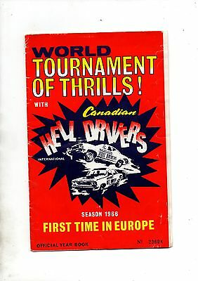 CANADIAN HELL DRIVERS INTERNATIONAL 1966 EUROPEAN TOUR PROGRAMME** Good**