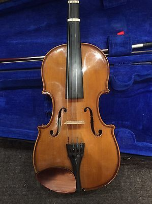 3/4 Size Violin Outfit Labelled Stentor Student 1 With Bow & Case