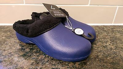BRIERS Thermal Clogs Blue gardening removable fleece sz 6/7 NEW