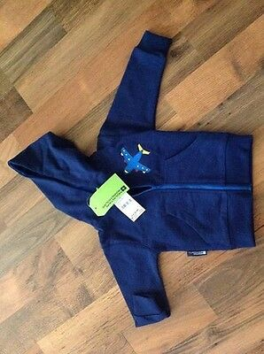 Toddler boys blue hooded zip up top 2-3years BNWT