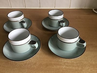 Vintage Denby Romance - 4 Cups and Saucers