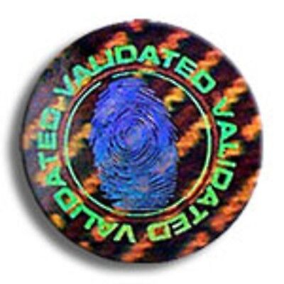 "100 Customized High Security Hologram Label Tamper Proof 1"" Guilloche Stickers"
