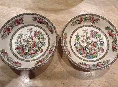 2 Johnson Bros Indian Tree Deep Bowls 7.5 Diameter