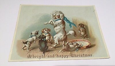 Victorian Greetings Card.  Anthropomorphic Dogs.