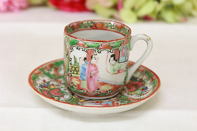 Chinese Export, Rose Medallion Cup and Saucer