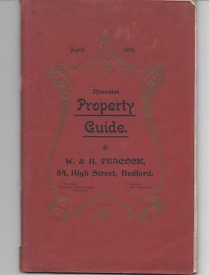 Superb 1911 BEDFORD Property Guide & Town Guide with map, many photos / ads