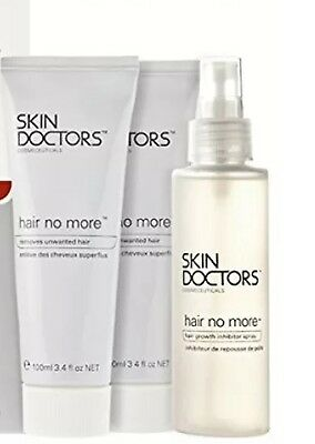 Skin Doctors Hair No More - Hair Removal System- Pack 2x100ml cream+120ml spray